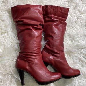 ‼️Beautiful Leather Heeled Boots